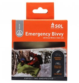 SOL Emergency Bivy w/ Rescue Whistle - Orange