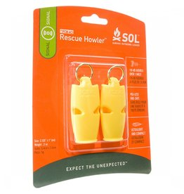 SOL Rescue Howler Whistle 2pk