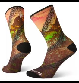 SmartWool Women's PHD Cycle Ultra Light Mountain Print Crew Socks