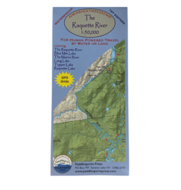 Blue Line Book Exchange Adirondack Paddler's Map Raquette River