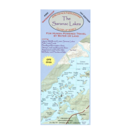 North Country Books Inc. Adirondack Paddler's Map Saranac Lake