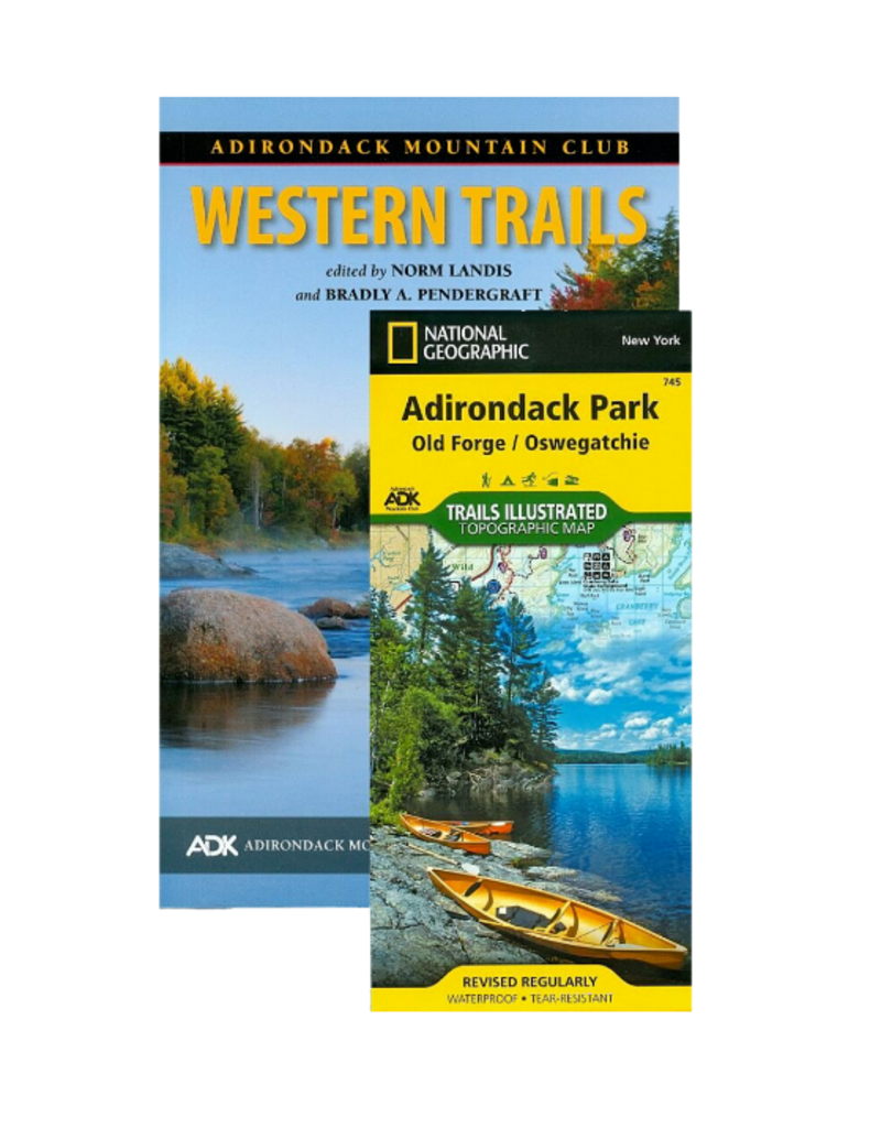 Blue Line Book Exchange Adk Mtn Club Hiking Guide Book & Map Pack