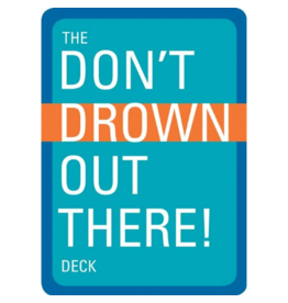 Blue Line Book Exchange Don't Drown Out There Playing Cards Deck