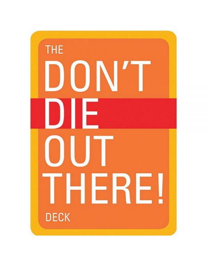 Blue Line Book Exchange Don't Die Out There Playing Cards Deck