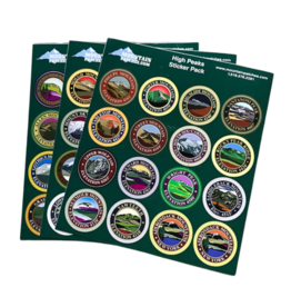 Blue Line Book Exchange Adirondack 46 High Peaks Sticker Pack