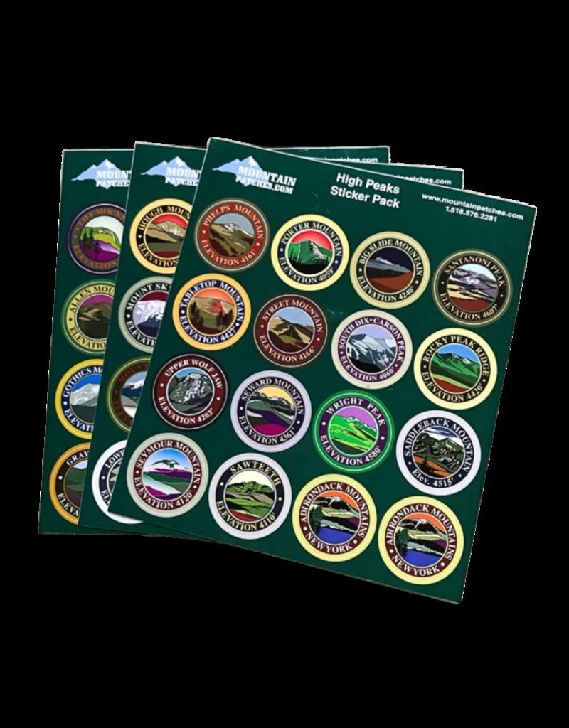 Blue Line Book Exchange Adirondack 46 High Peaks Sticker Pack
