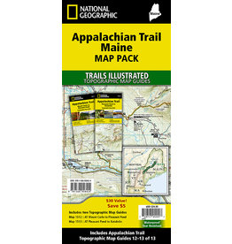 National Geographic Appalachian Trail Map Pack - Maine - 2 Maps