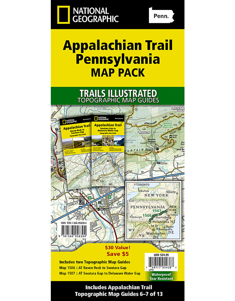 National Geographic Appalachian Trail Map Pack - PA - 2 Maps