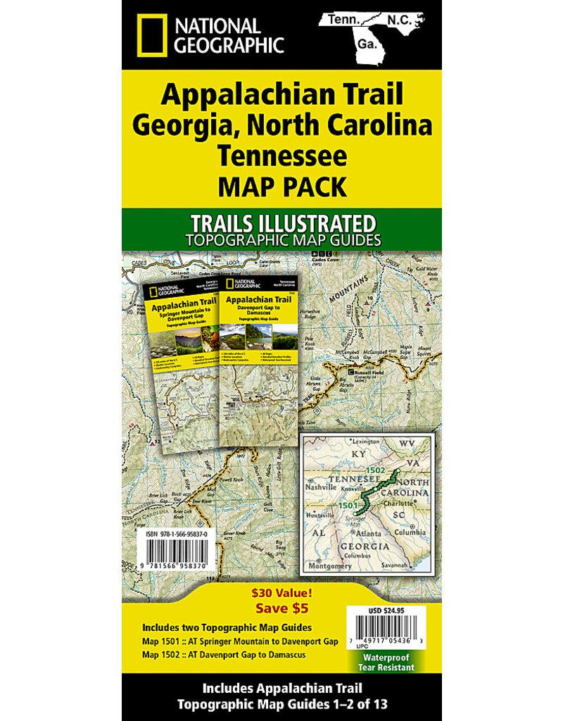 National Geographic Appalachian Trail Map Pack - GA, NC, TN - 2 Maps