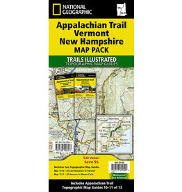 National Geographic Appalachian Trail Map Pack - VT, NH - 2 Maps