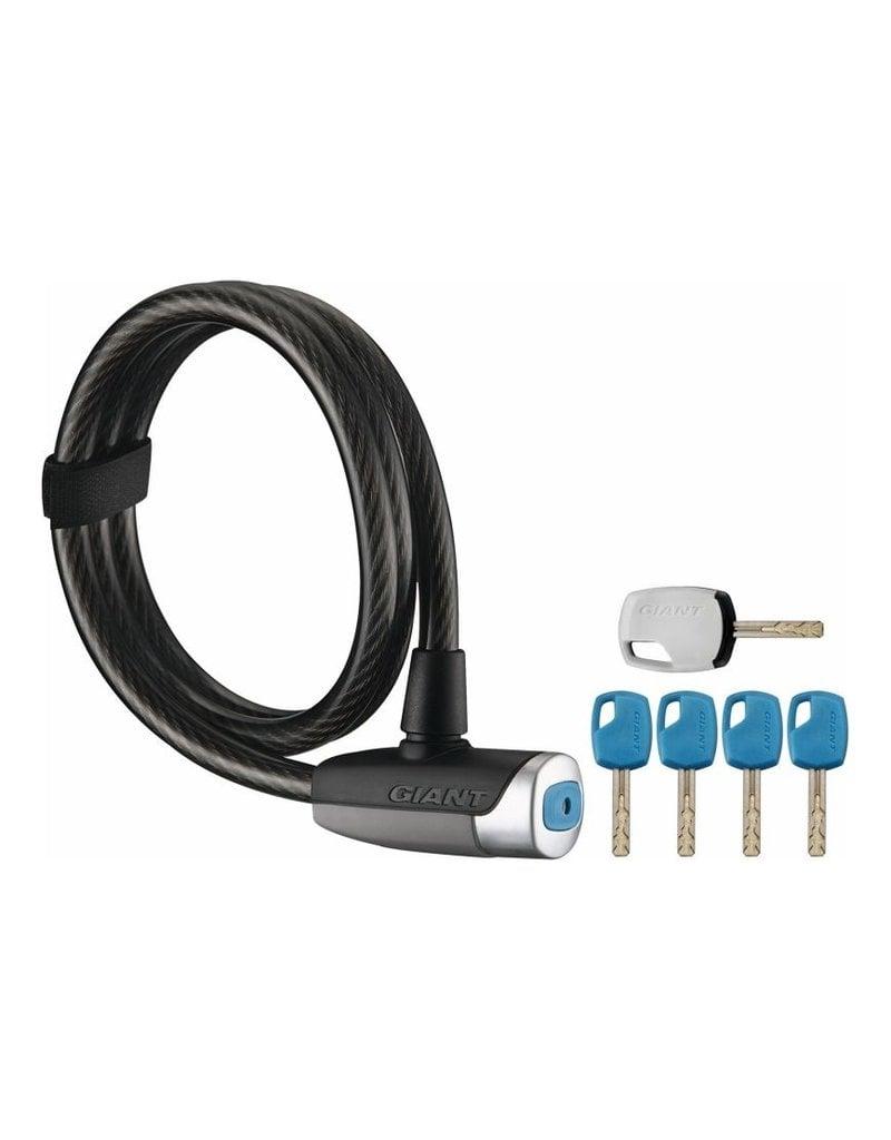 Giant Surelock Flex Key Coil 12 Cable Lock Matte Black