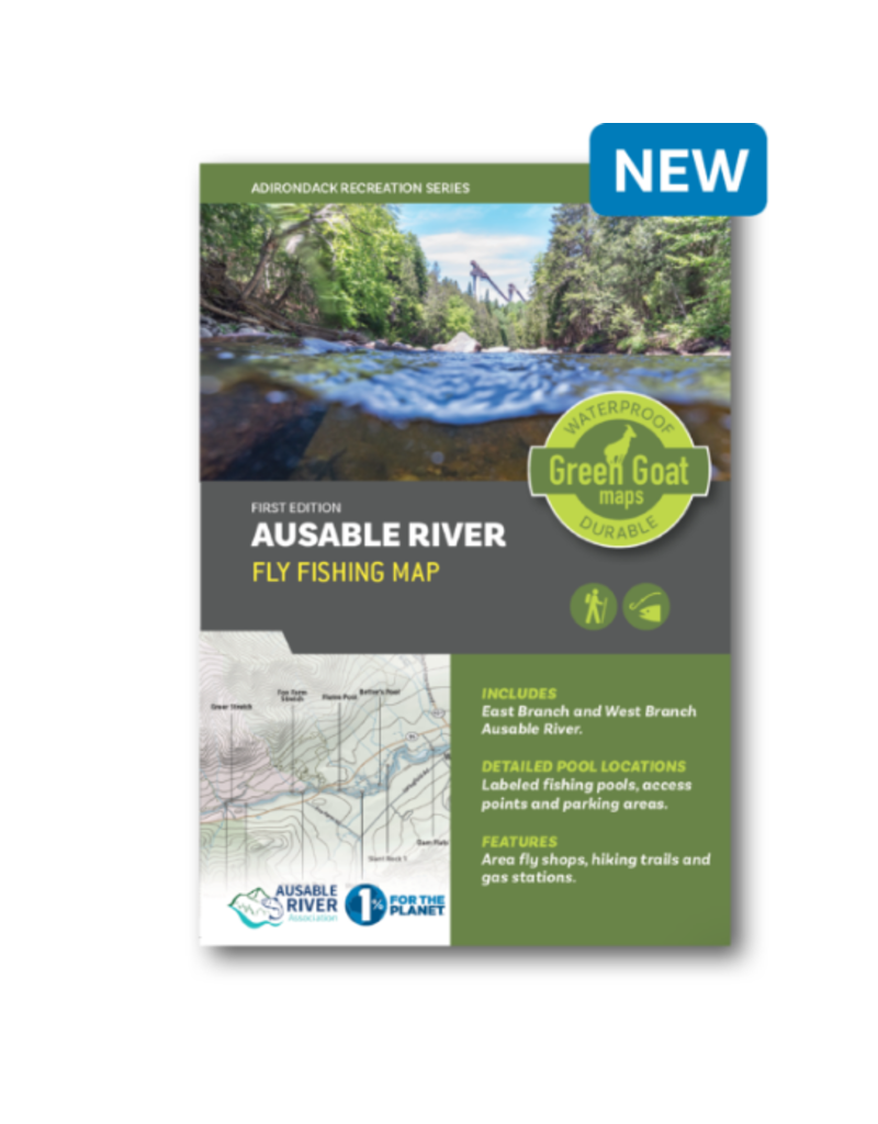 Green Goat Maps Ausable River Fly Fishing Map