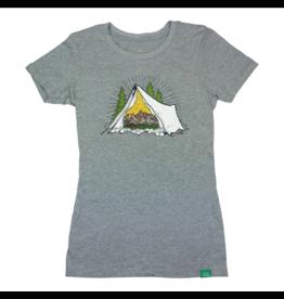 Wild Tribute Women's Grand Teton National Park Tent Athletic T-Shirt