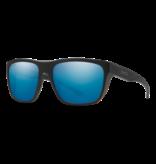 Smith Optics Barra Sunglasses w/ Chromopop - Matte Black/Polarized Blue Mirror