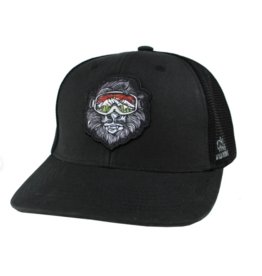 Wild Tribute Yeti Trucker Hat - Black