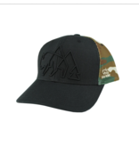 Wild Tribute Logo Camo Trucker - Black