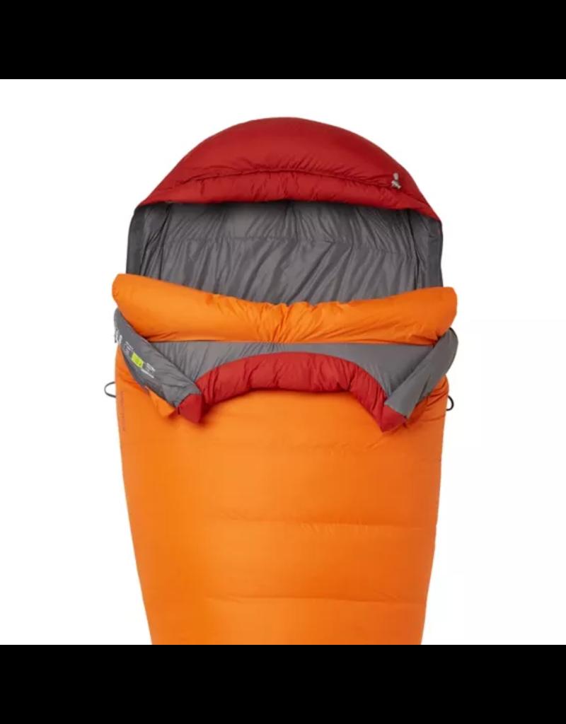 Marmot Never Summer 0 Degree Down Sleeping Bag Tangelo/Auburn Regular LZ
