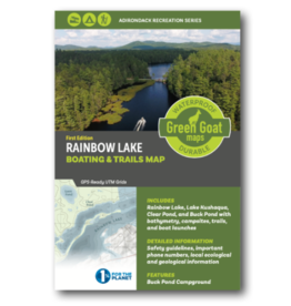 Green Goat Maps Rainbow Lake Boating and Trails Map