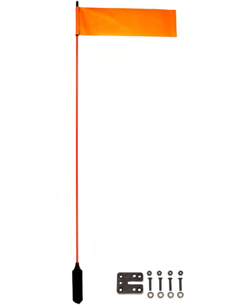 """YakAttack VISIFlag, 52"""" tall mast with flag, Includes Mighty Mount"""