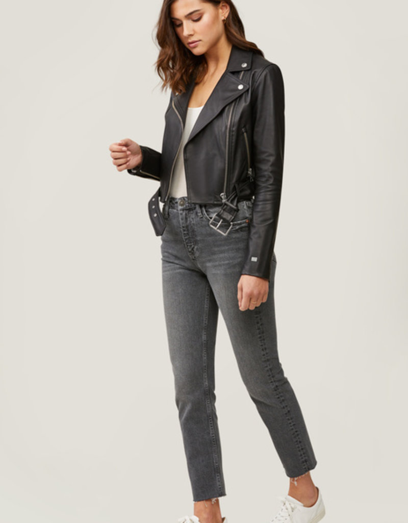 Soia and Kyo Clodia Belt Leather Jacket