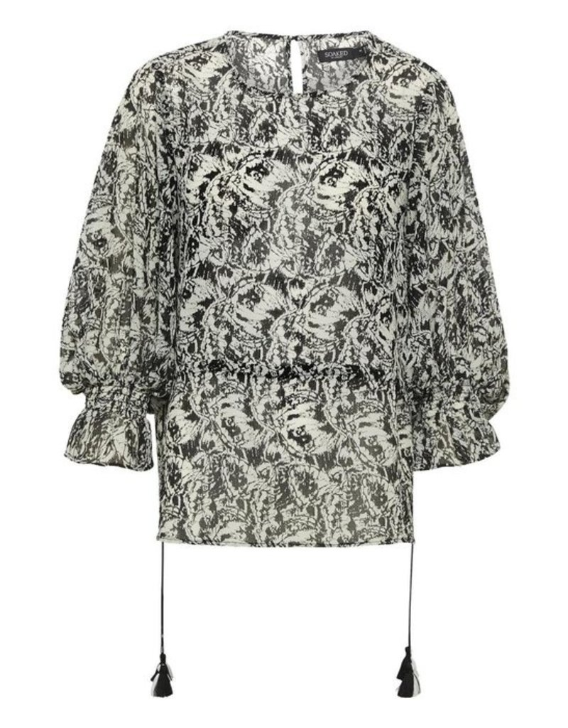 Soaked In Luxury Ember Blouse 3/4 Sleeve