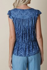 Indi and Cold Camisa Tie Dye Blouse