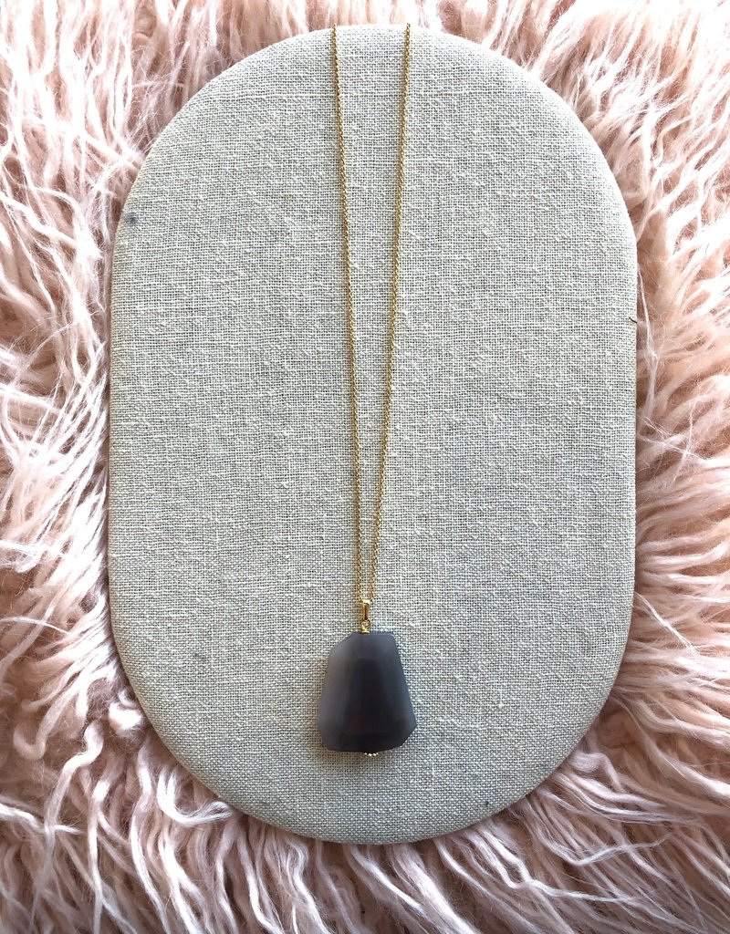"Studio III.XX 36"" Chain + Stone Necklace"