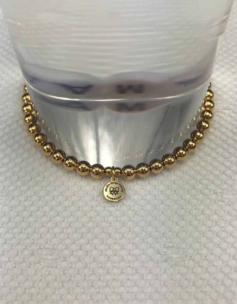 Studio III.XX Gold Alpha Bracelet
