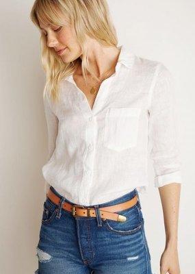 Bella Dahl Pocket Button Down Linen
