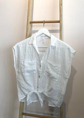 Bella Dahl Double Pocket Fray Edge Shirt