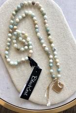BlacKnot Jewellery Amazonite w Quartz + gold Vermeil Silk