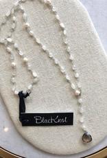 BlacKnot Jewellery Adjustable Lariat Moonstone w Quartz