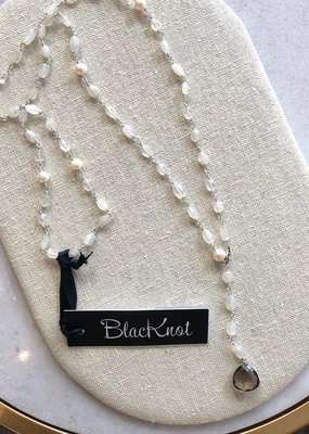 BlacKnot Jewellery Adjustable Lariat Moonstone Necklace