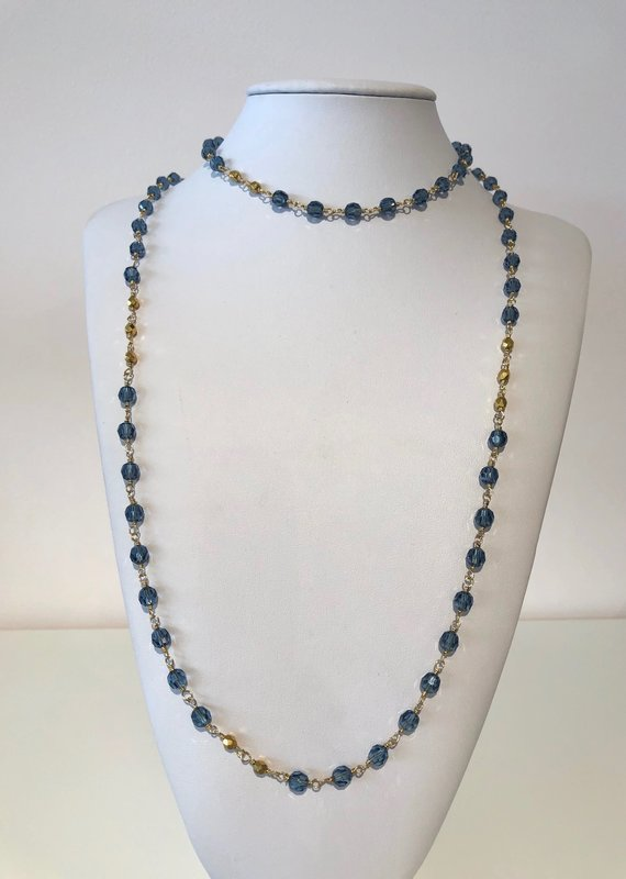 BlacKnot Jewellery Denim Blue Swarovski Crystal Necklace