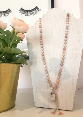 BlacKnot Jewellery Pink Peru Opal Fireball Pearl Necklace
