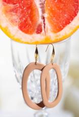 Hello Ashto Oval Hoop Earrings