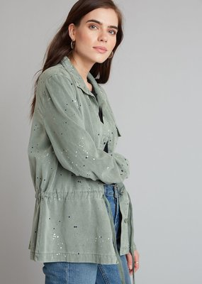 Bella Dahl Flap Pocket Tie Waist Shacket