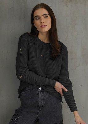 Autumn Cashmere Distressed Scallop Sweater