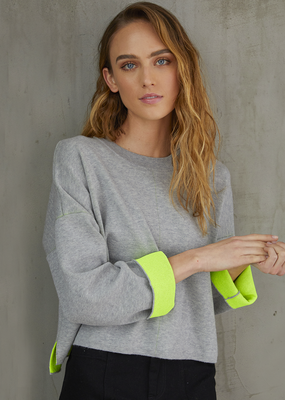 Autumn Cashmere Boxy Neon Sweater
