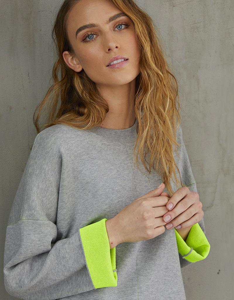 Autumn Cashmere Boxy Neon Sweater