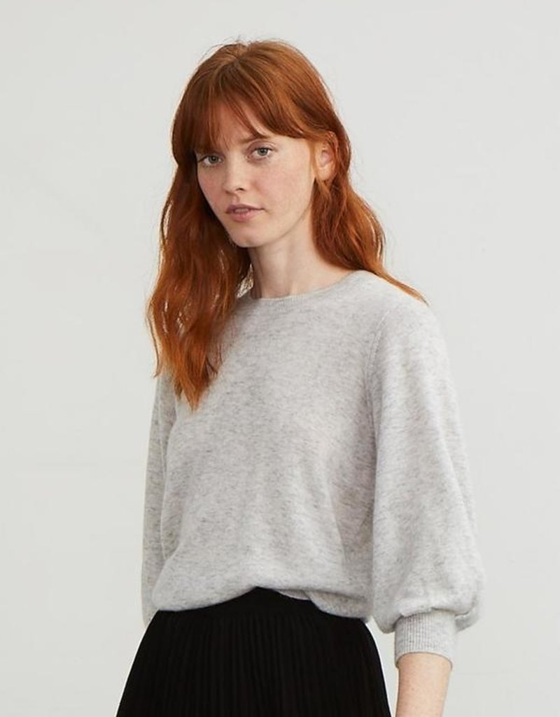 Autumn Cashmere 3/4 Puff Sleeve Sweater