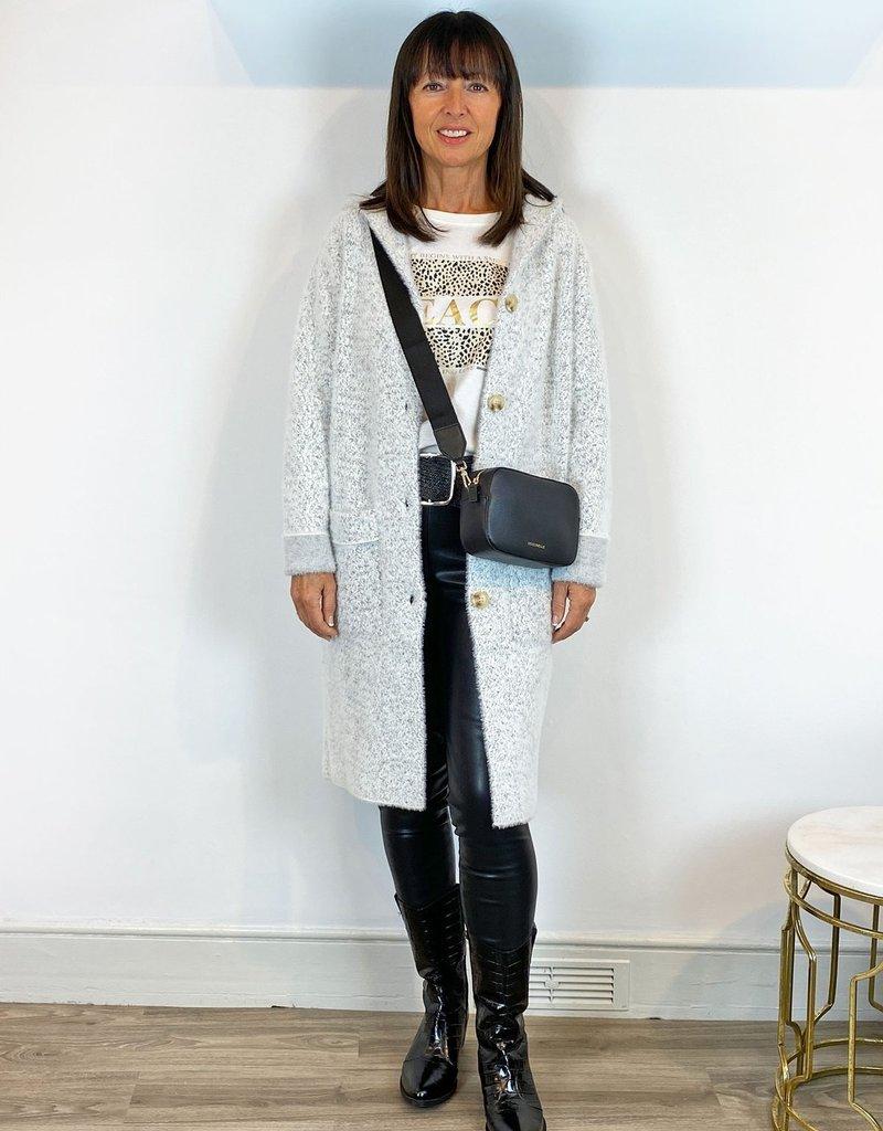 Rino & Pelle Hooded Knit Coat