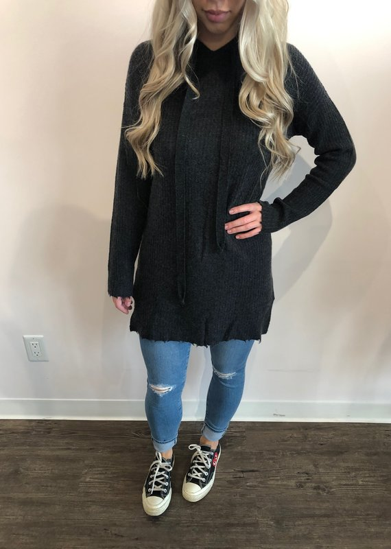 Autumn Cashmere Distressed Hoodie Dress