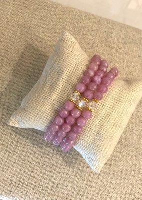 6mm Stone + Crystal Bracelet