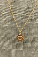 Studio III.XX Dotted Heart Coin Necklace