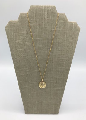 Studio III.XX Long Moon CZ Medallion Necklace