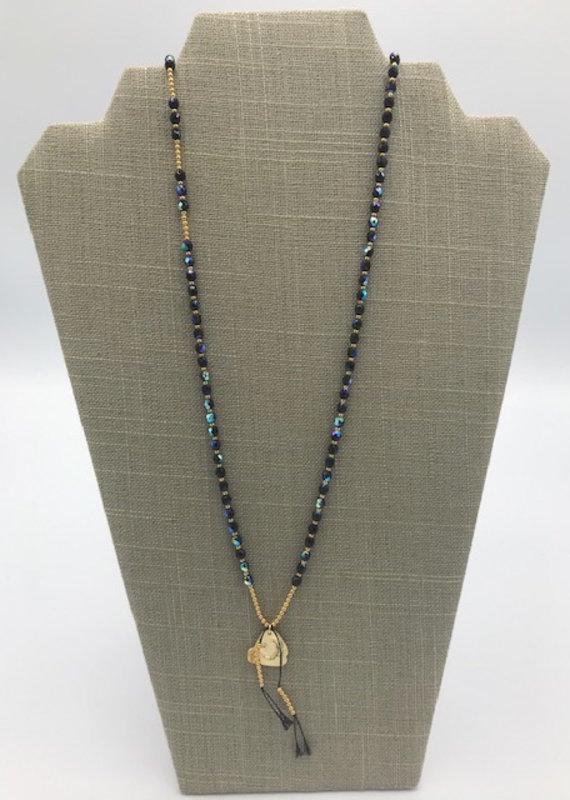 Studio III.XX 6mm Beaded Silk Charm Necklace