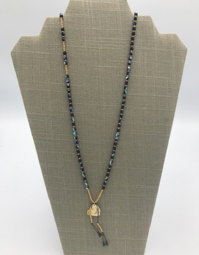 Studio III.XX 6mm Beaded Silk Charm Necklace