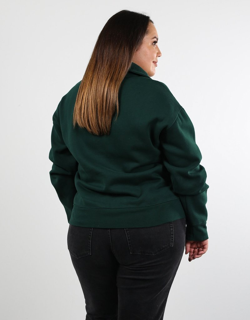 Brunette Showroom Step Sis Half Zip