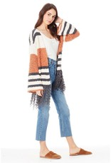 Saltwater Luxe 3/4 Sleeve Tassel Sweater